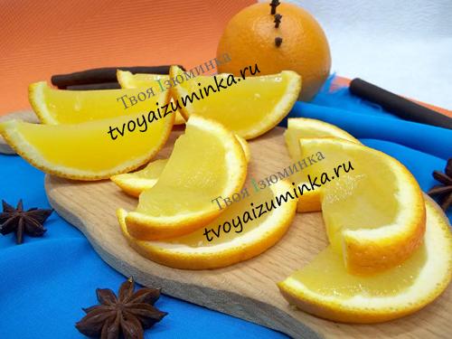 Десерт из апельсинов,