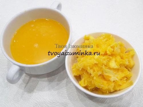 Отжатый из апельсина сок