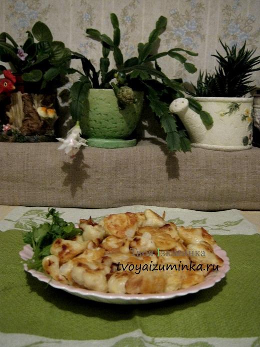 Цветная капуста в кляре в тарелке