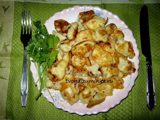 рецепт приготовления цветной капусты в кляре с фото