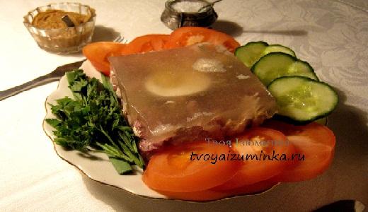 Как приготовить холодец из куры и свиной рульки