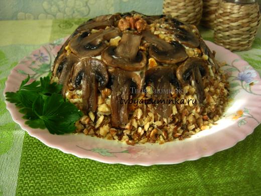 Торт из шампиньонов