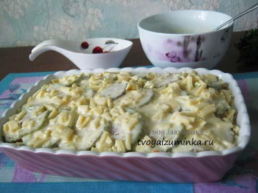 Кабачки запеченные в духовке с овощами