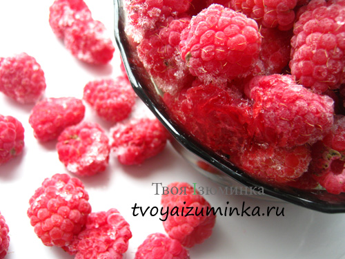 Замороженные ягоды малины