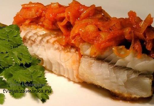 рыба запеченная в духовке с овощами с фото