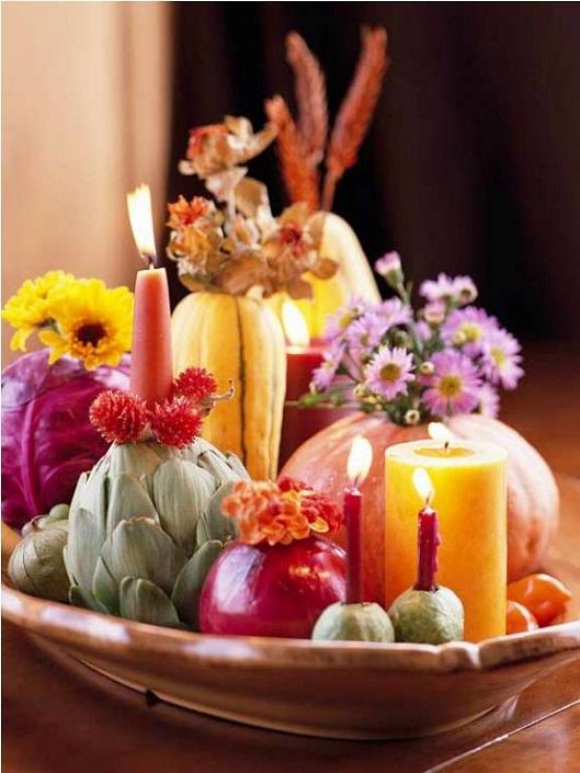 Осенняя композиция из плодов