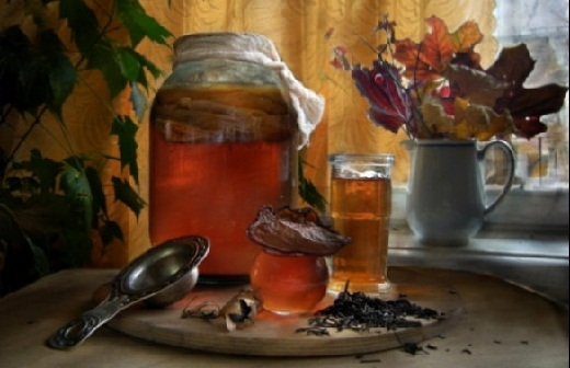 Чайный гриб в трех-литровой банке