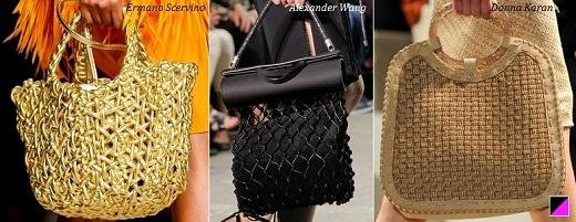 Модные сумки плетеные весна 2013