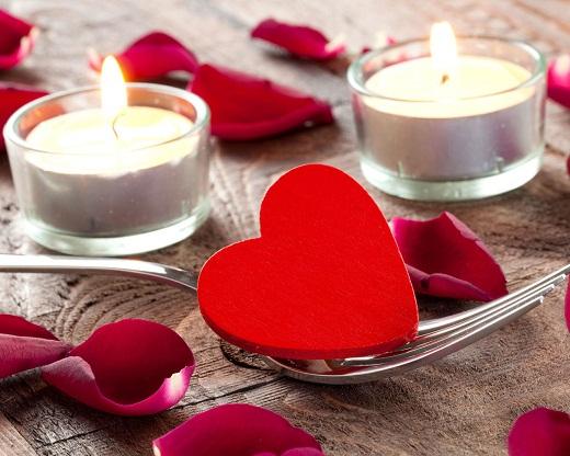 Оформление стола ко дню святого Валентина