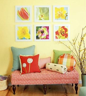 Весенний декор интерьера в доме