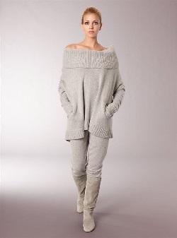 Модель брюк из кашемира