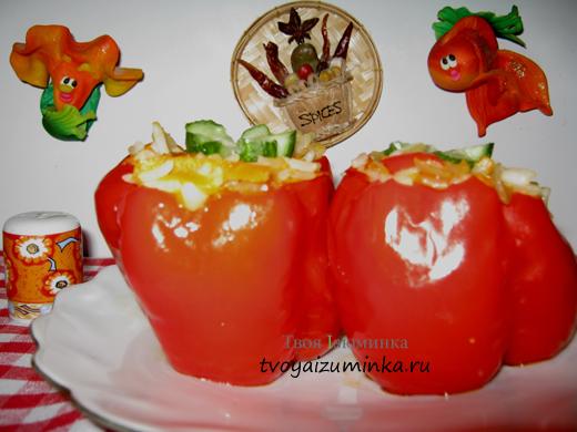 Рецепт приготовления перца под сметанно-томатным соусом