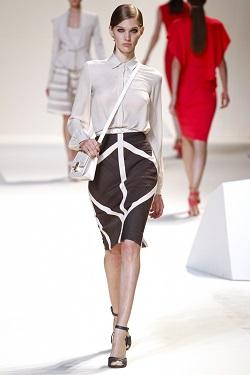 Черно-белый тренд весны 2013. Геометрические формы в одежде.