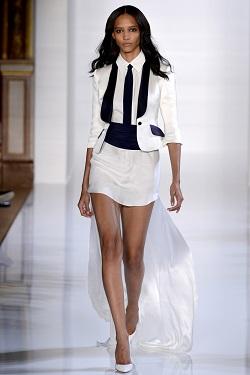 Черно-белый тренд весны 2013. Мини и миди юбки.
