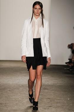 Мини и миди юбки. Черно-белый тренд весны 2013.