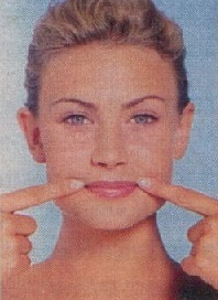 Упражнение 3. Уменьшаем складки вокруг губ.