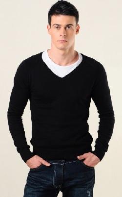 Базовый гардероб мужчины трикотажный джемпер