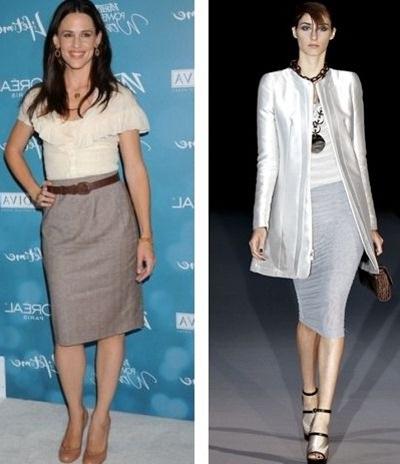 Какой должна быть длина платья. Чуть ниже колена.
