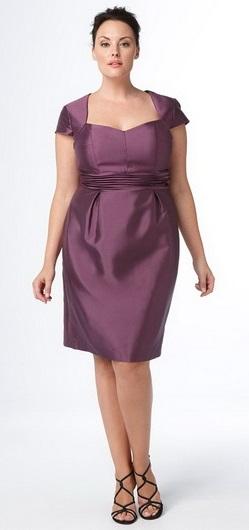 Какой должна быть длина платья. Платье-футляр для полных.