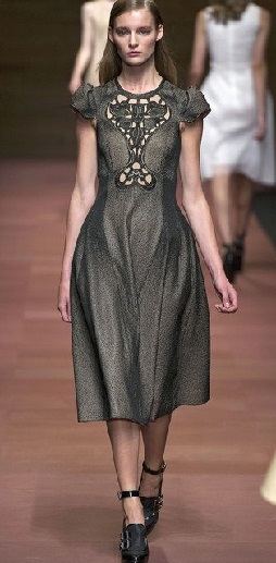 Какой длины должно быть платье. Длина по икры.