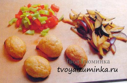 Домашние заварные булочки салат.