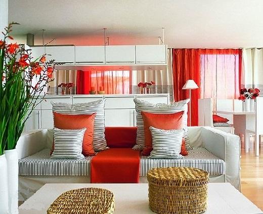Влияние цвета в интерьере. Красный цвет.