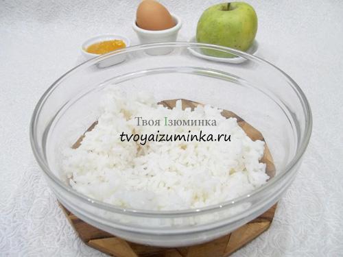 Как приготовить рисовый пудинг с яблоками