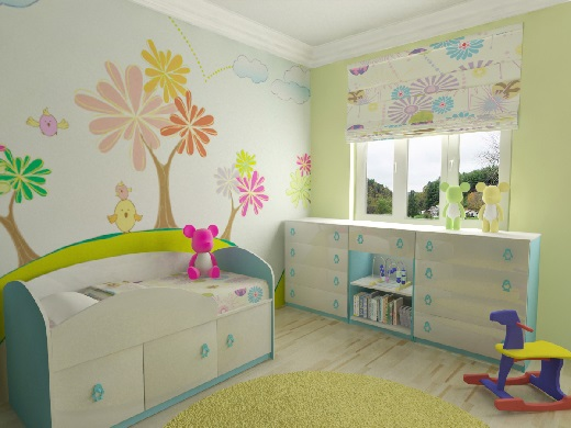Как обустроить детскую комнату. Дизайн детской комнаты.