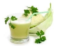 Сырые овощные соки. Капустный сок.