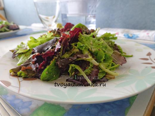 Вкусные салаты из овощей.