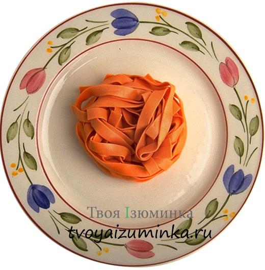 Рецепт домашней куриной лапши. Оранжевая лапша.