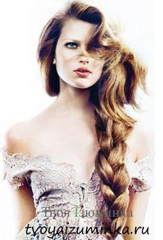 Как стать королевой бала - праздничные прически на Новый год. Коса на длинные волосы.