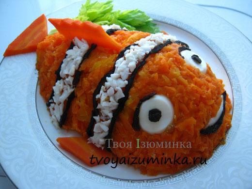 Салат Рыбка на тарелке