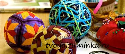 Необычное японское рукоделие – шарики-темари