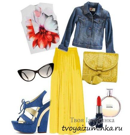 Составляем ансамбли с жёлтой юбкой: солнечное настроение в вашем образе. Стиль кэжуал.