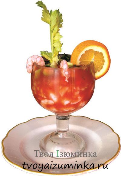 Креветочный коктейль.