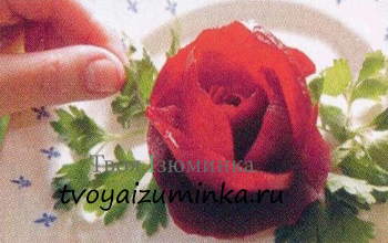 Украшения для стола из овощей - цветы из овощей своими руками. Розы из свеклы.