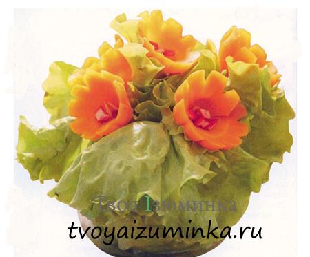 Украшения для стола из овощей — цветы из овощей своими руками