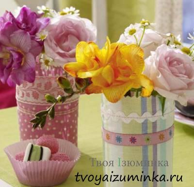 Композиции из букетов цветов