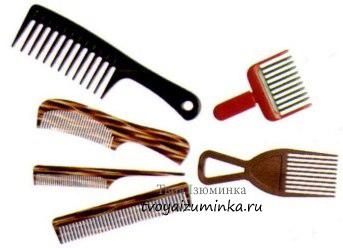 Виды расчёсок для волос