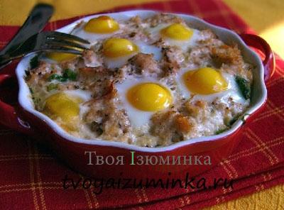 Яичница с мясом