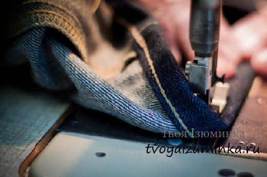Как подшить брюки лентой вручную и на машинке