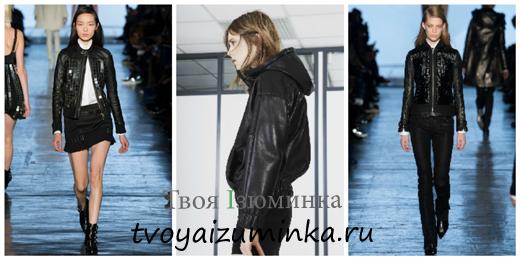 Короткие кожаные куртки 2014-2015