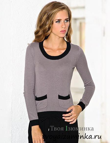 Пуловер в стиле Шенель