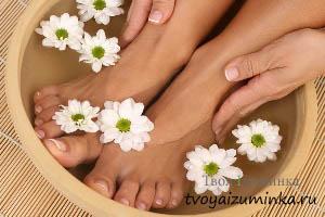 Ванночка для ног из ромашки