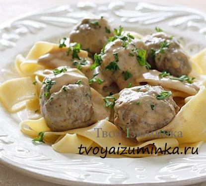 Универсальное блюдо - фрикадельки