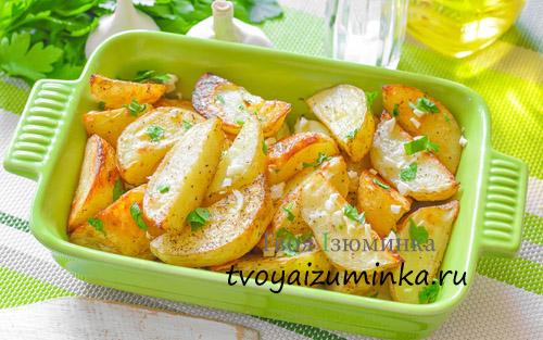Печеный картофель.