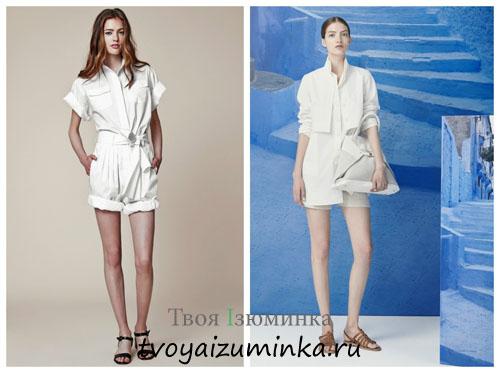 Модная одежда белого цвета