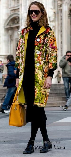 Цветастое пальто