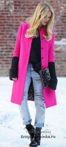 Пальто цвета фуксии